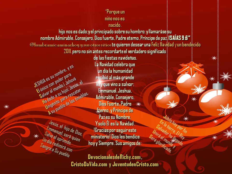 Tarjeta navide a cristo da vida - Tarjetas navidenas cristianas ...